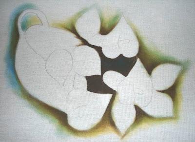 como fazer sombreado pintura em tecido