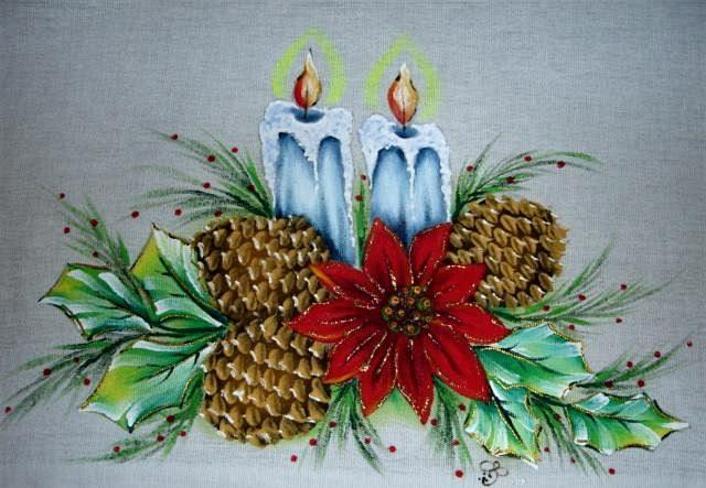 Pintura em tecido passo a passo pintura em tecido de - Pintura en tela motivos navidenos ...