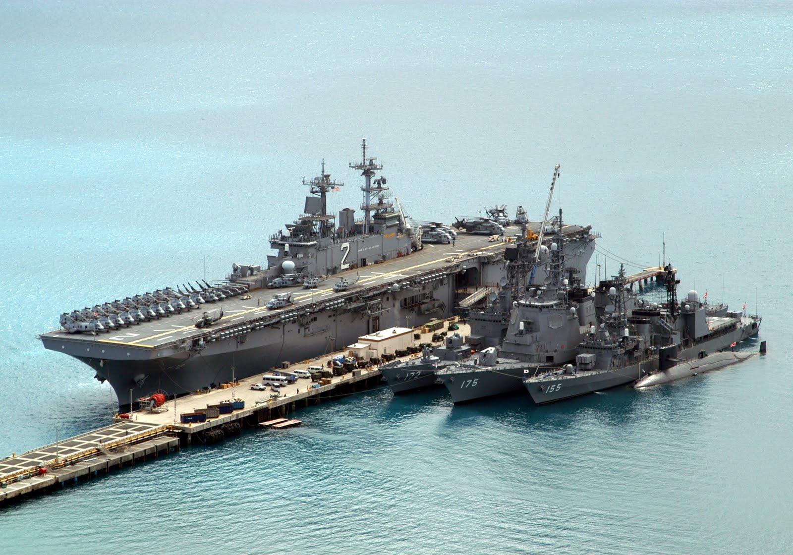 アメリカ海軍ホームページに見る海上自衛隊艦艇: DDG172 しまかぜ FFG175 みょうこう