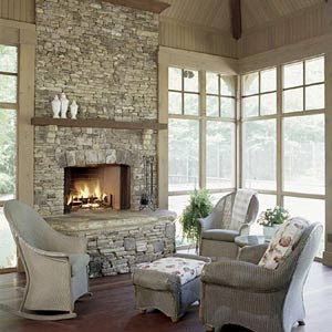 Sun room new house outdoor rooms pinterest for Four season rooms with fireplaces