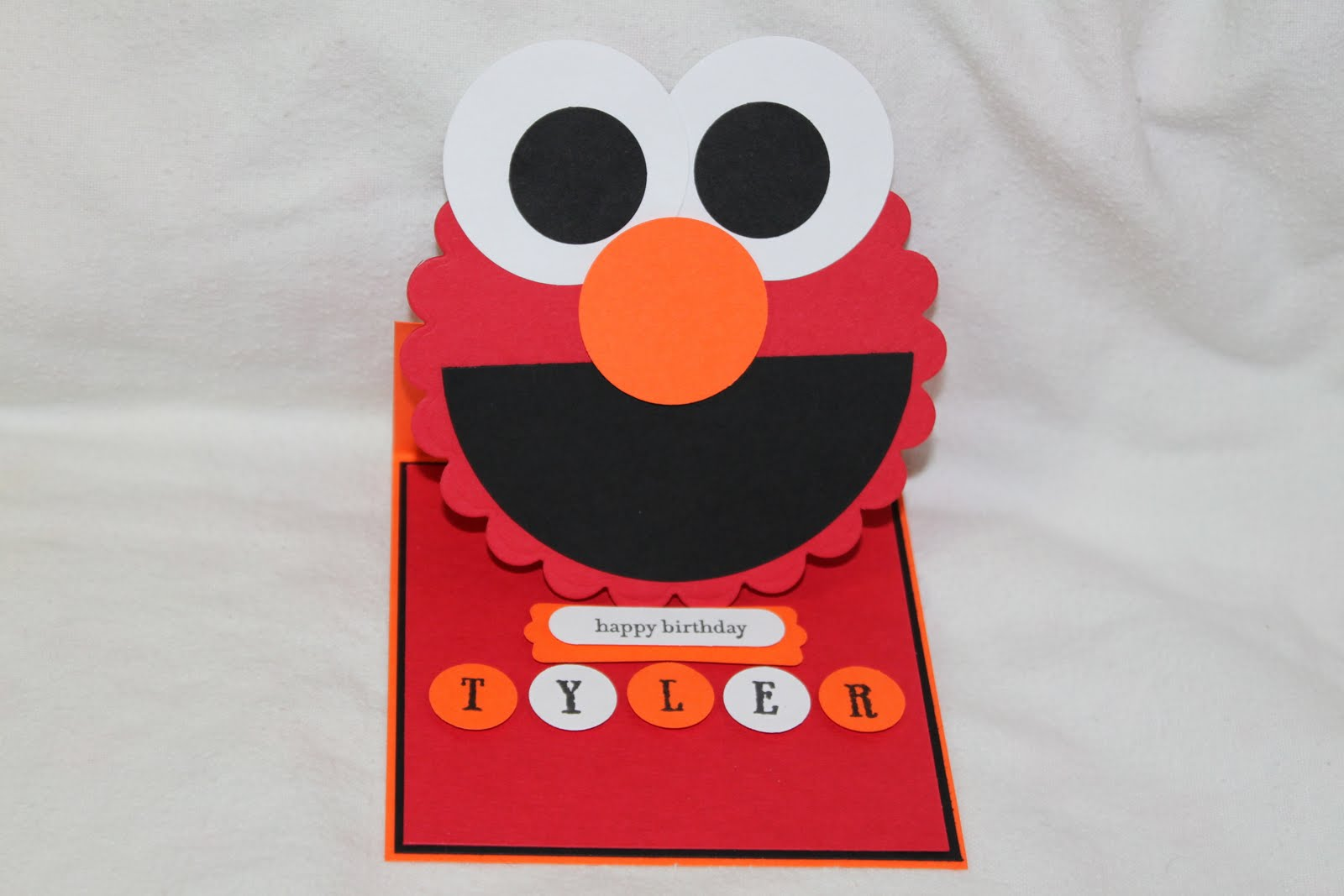 My simple crafts elmo easel card for Elmo arts and crafts