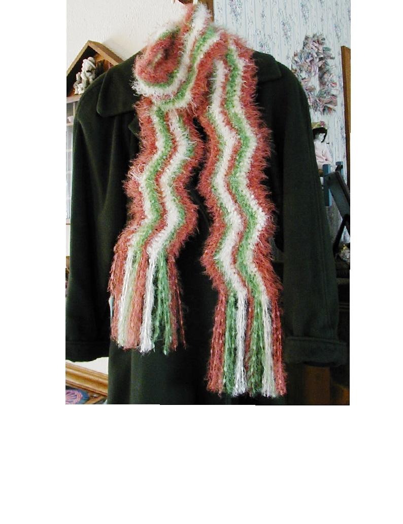 Free Crochet Pattern For Zig Zag Scarf : Positively Crochet!: Zig Zag Striped Scarf for Hobby Lobby ...
