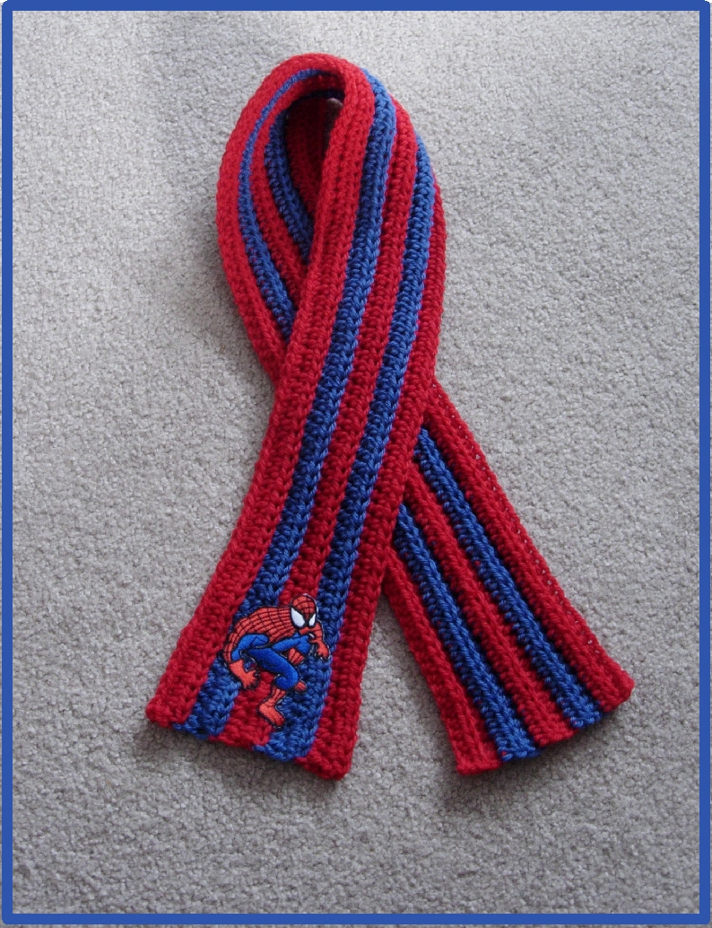 Positively Crochet!: Boys Spiderman Inspired Scarf