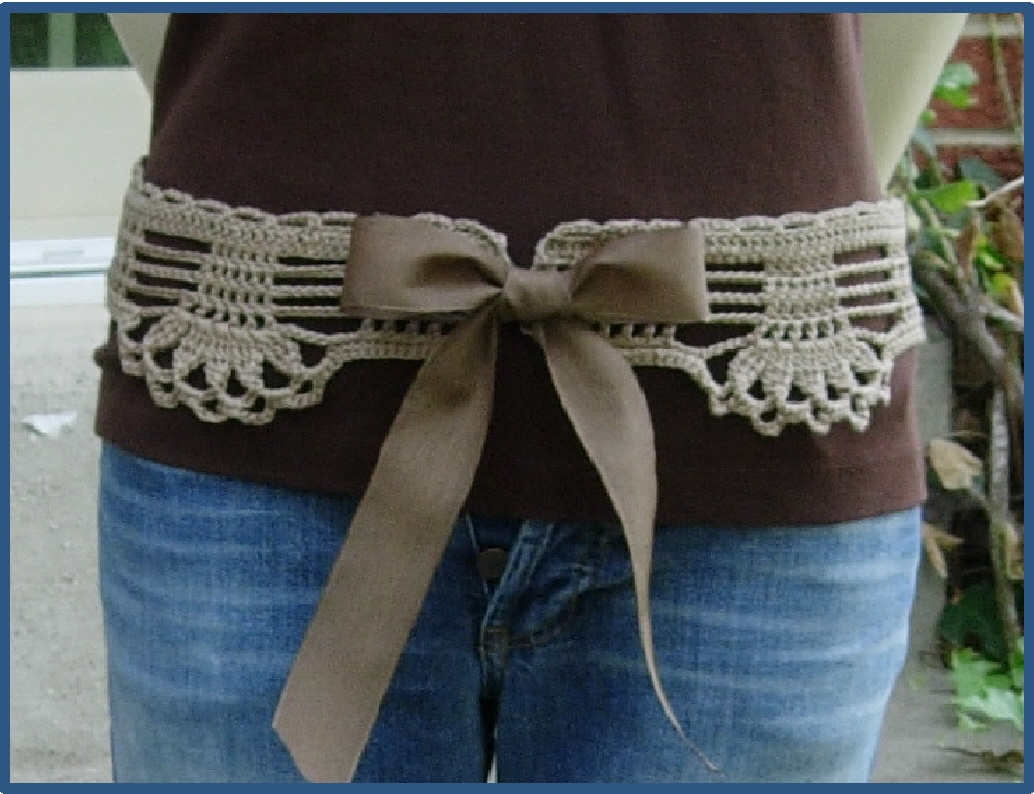 Crochet Belt Pattern Free : Positively Crochet!: Feminine Lace Belt - Crochet Pattern ...
