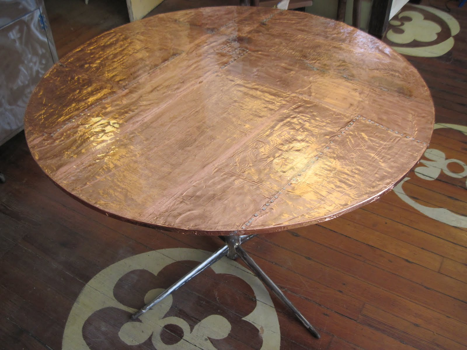 Sticks And Bricks Copper Top Table