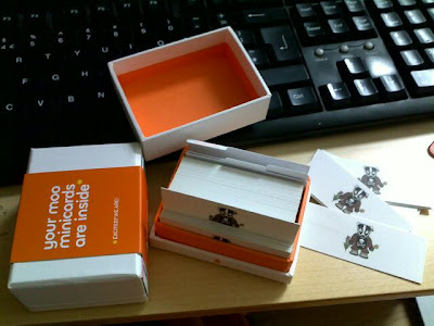 My new business cards from Moo