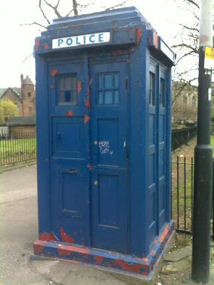 TARDIS parked near the Necropolis in Glasgow 2