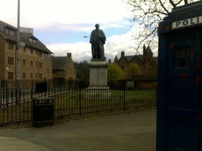 TARDIS parked near the Necropolis in Glasgow 1