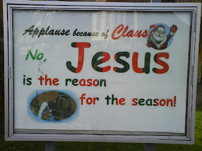Applause because of Claus