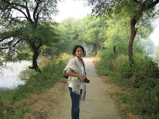 Gayatri on the trail