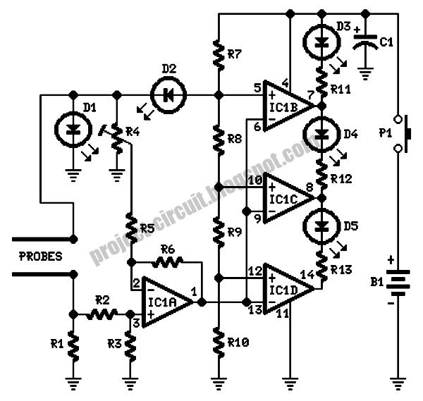 free project circuit diagram  salt tester circuit