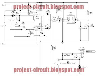electronics technology voltage cut off circuit using time delay batteries in series and parallel circuits electronics february 2012 circuit schematic #12