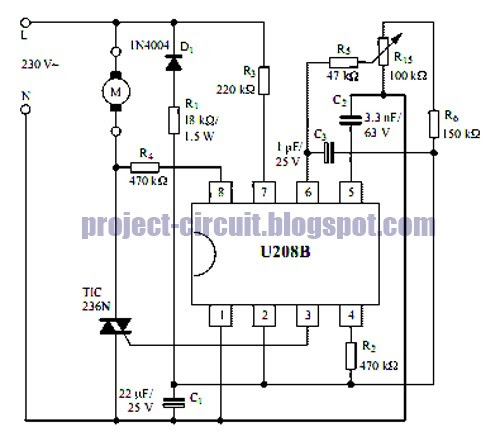 free project circuit diagram  a phase control circuit