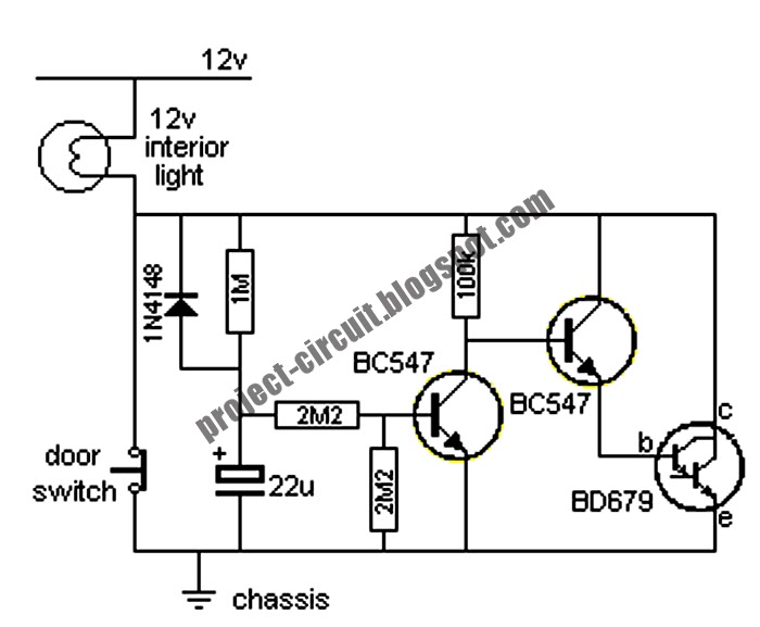 electronics technology  car interior light extender circuit
