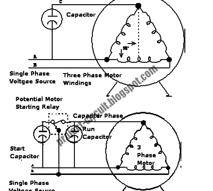 free project circuit diagram  enabling 3 phase motor to