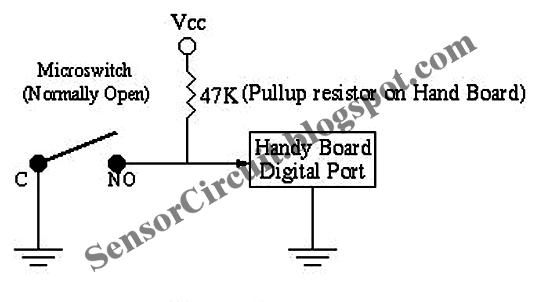 sensor schematic  contact sensor circuit for robots