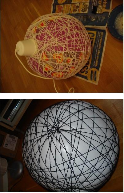 C mo se hace na lampara de hilos como la random light de - Lamparas decorativas de techo ...