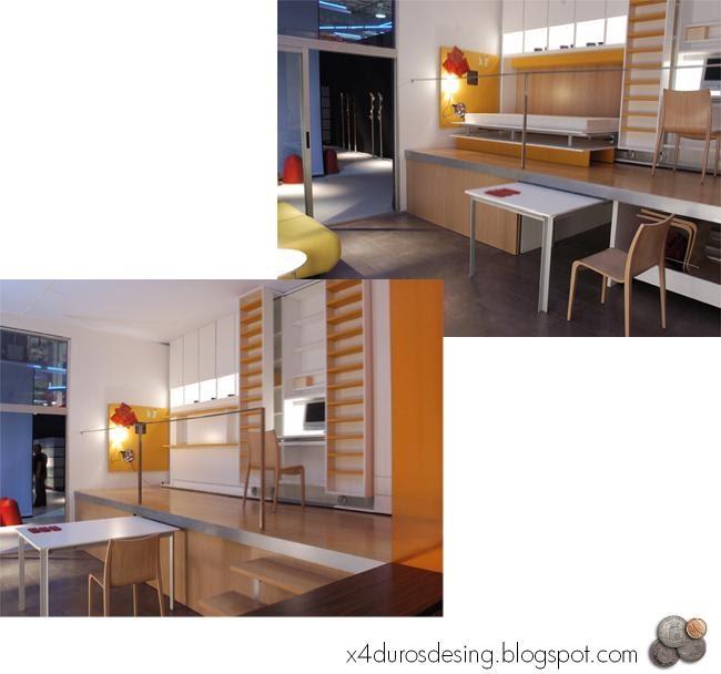 C mo ganar amplitud 6 muebles plegables y for Muebles multifuncionales