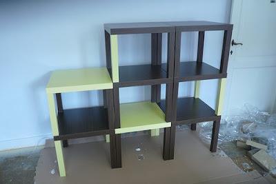 Ikea hack una estaneria hecha con mesas lack - Estanteria ikea lack ...