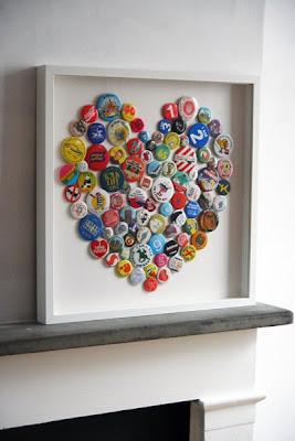 Un cuadro con chapas - Como hacer cuadros con botones ...