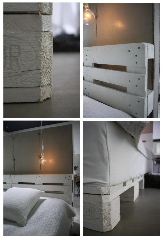 Una cama de palets - Camas de palets ...