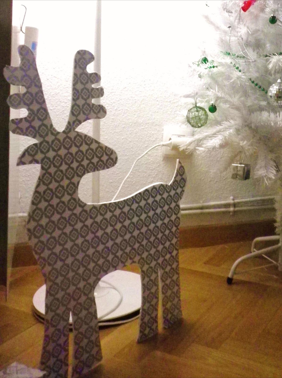 Nuestra decoraci n de navidad for Adornos de navidad con carton