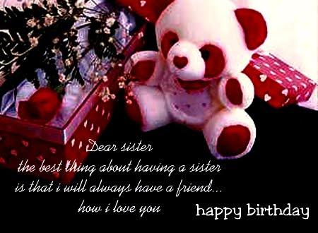 Birthday Wish Sister