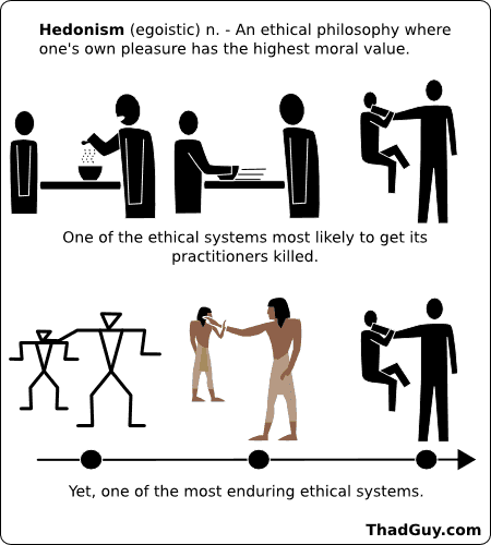ethics hedonism and pleasure essay Free essay: hedonism is a way of life that is rooted in a person's  the ethical  egoist would state that a person should maximize his or her pleasant states of   although the experience machine would provide pleasure, it would be only  during.