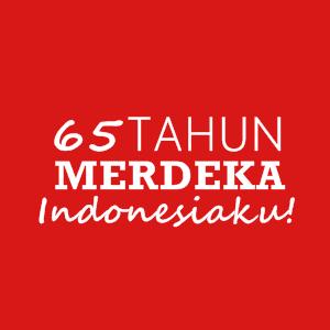 HAPPY 65 ANNIVERSARY INDONESIA