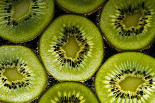 Back lit Kiwi Fruit
