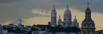 A panoramic view of Sacre Coeur - Paris, France