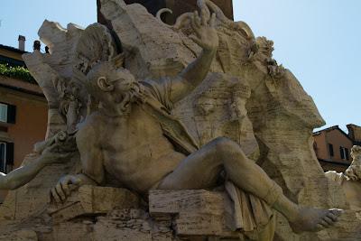Bernini's Fontana Quattro Fiumi in Piazza Novona - Rome, Italy