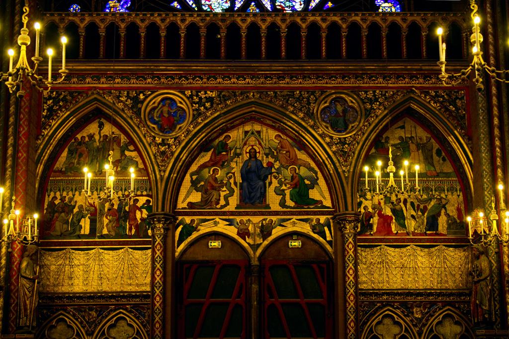 The Interior Of Sainte Chapelle