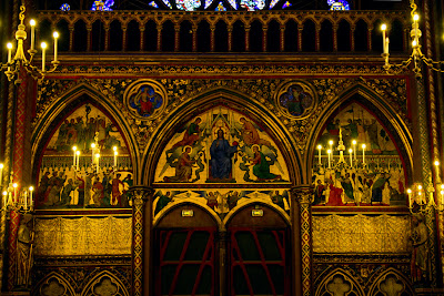 The interior of Sainte-Chapelle - Paris, France