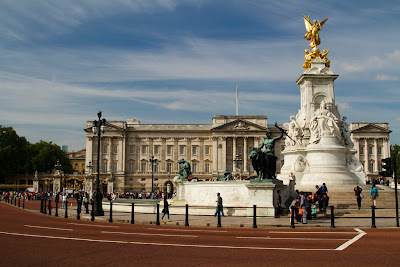 Buckingham Palace from Spur Road - London, England