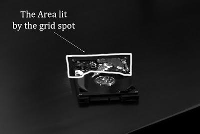 Area lit by Grid spot