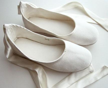 Ecochic Handmade Vegan Bridal Ballet Flats