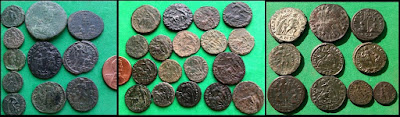Numerous images of Roman coins with Barbarians, Captives, and Slaves being speared, dragged, and bound by soldiers