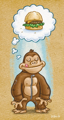 Danny Moore Illustration Ape Suit