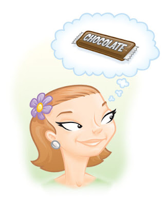 Danny Moore Illustration Chocoholic Woman Chocolate
