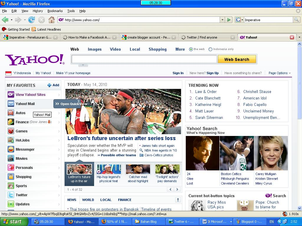 Yahoo mail site and click to the sign up for yahoo to start make an
