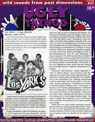 Los Yorks y Arturo Vigil en UGLY THINGS (La revista más importante de Garage Beat y Psicodelia )