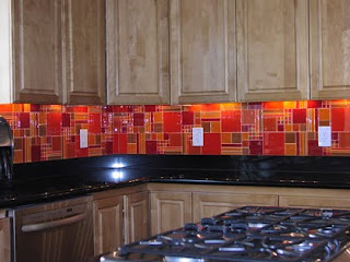 red kitchen backsplash red backsplash houzz