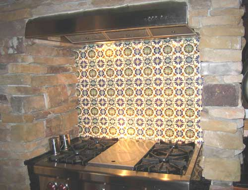 Stove Backsplash Pictures It is of a stove backsplash using the T74 floral tiles