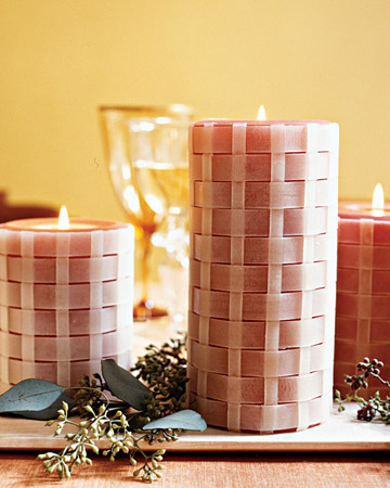 basket weave candles
