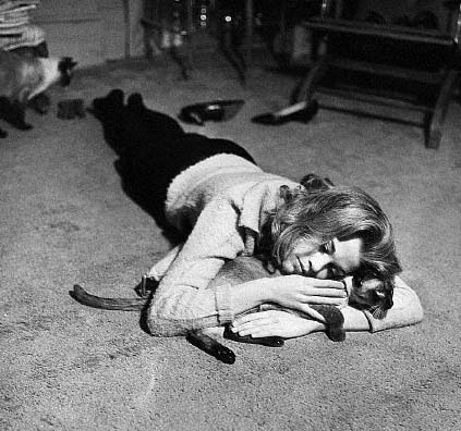 Jane fonda yoga with cat
