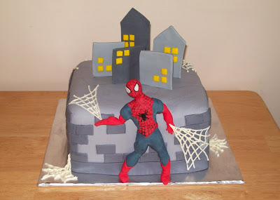 Spiderman Birthday Cake on Spiderman Birthday   Chocolate Fudge Cake And Chocolate Fudge Filling
