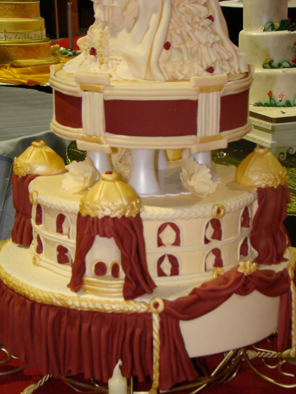 Layers Of Love Utahs Grand Wedding Cake Competition Entry