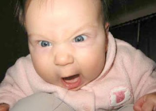 funny angry baby photo