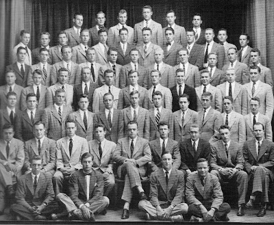 Members of Cannon Club (1949); sausagefest